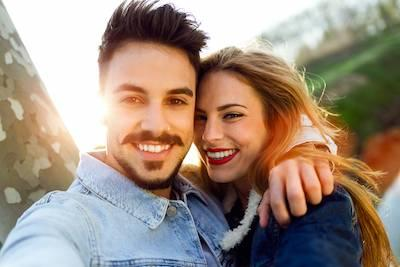 Couple Smiling after teeth whitening in Parker, CO